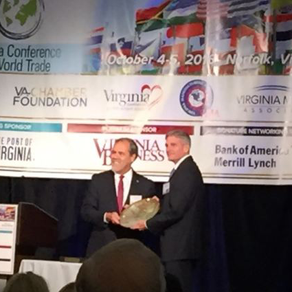 Joe receiving the Governor's Award