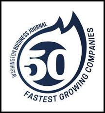 Washington Business Journal 50 Fastest Growing Companies award logo