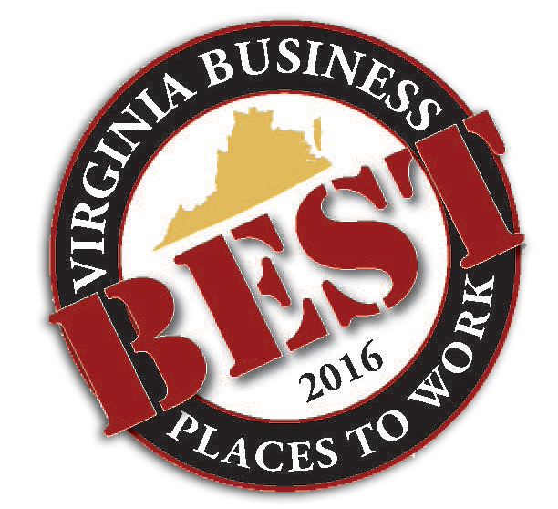 Virginia Best Business Places to Work 2016 award logo