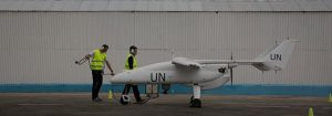 unmanned UAV ISR ready for takeoff