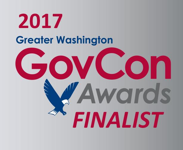 2017 GovCon Awards Finalist banner