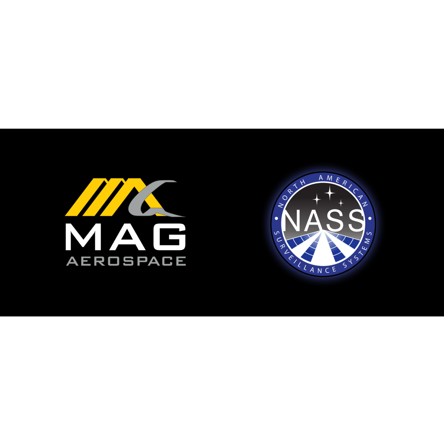 MAG Aerospace and NASS - North American Surveillance Systems Logos